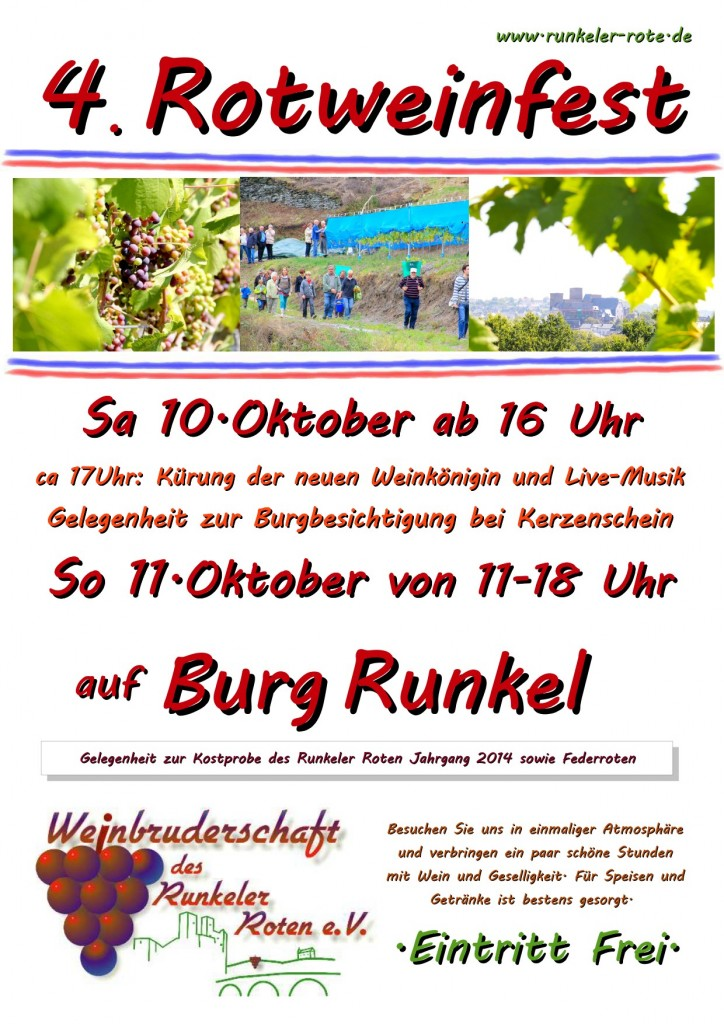 4tes Rotweinfest 2015 Plakat
